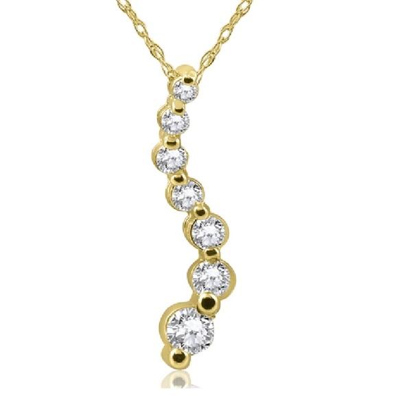 Jewelry 12 ct diamond journey pendant 14k gold necklace poshmark 12 ct diamond journey pendant 14k gold necklace aloadofball Images